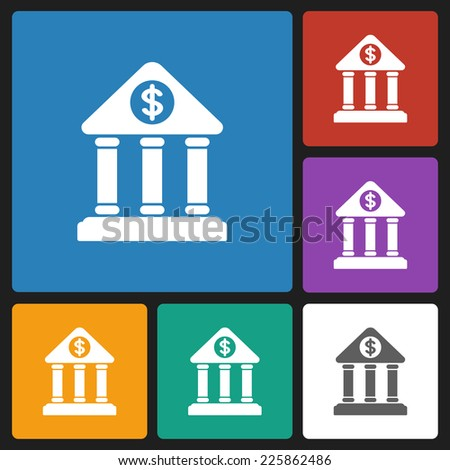 bank icon - stock vector