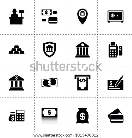 Bank Icons Vector Collection Filled Bank Stock Vector 2018