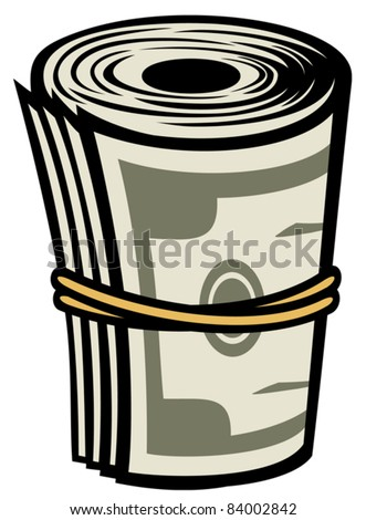 Bank Roll (Money roll) - stock vector