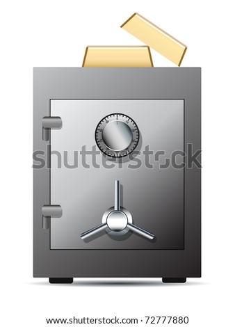 Bank safe - stock vector