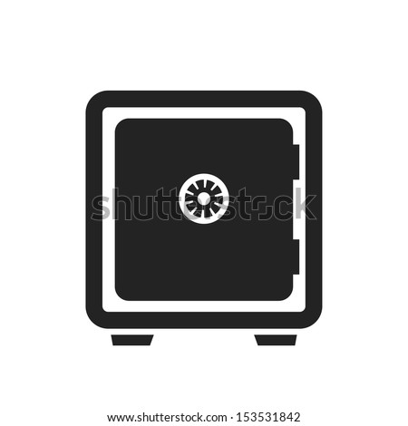 bank safe black icon. vector illustration - stock vector