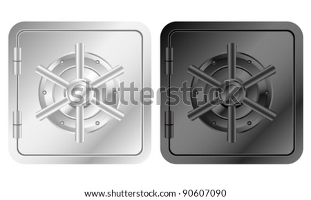 Bank safe icon on a white background. Vector illustration. - stock vector