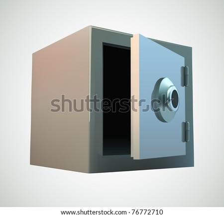 Bank safe illustration - stock vector