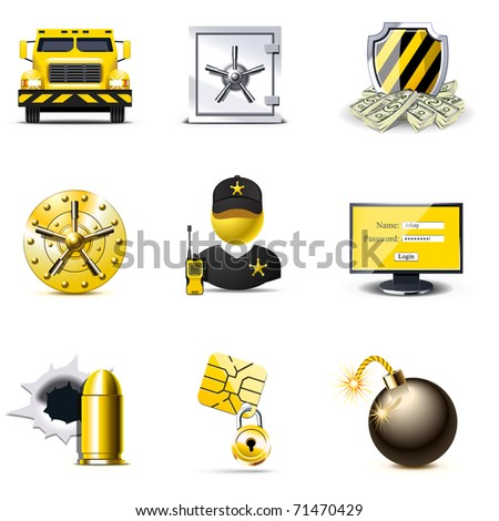 Bank security icons | Bella series - stock vector
