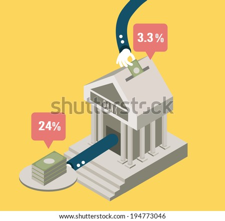 Bank stock and investment .concept design. flat elements. vector - stock vector