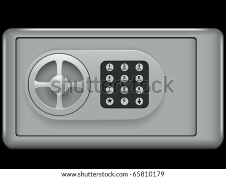 Bank the safe a cell for storage of values isolated on a white background - stock vector
