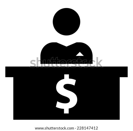Banker icon - stock vector