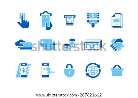Banking & Credit card Icons for Mobile apps, Websites and & other design projects./Banking & Credit Card - stock vector