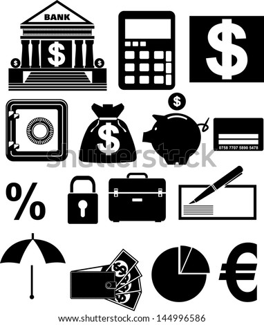 Banking icon, vector - stock vector