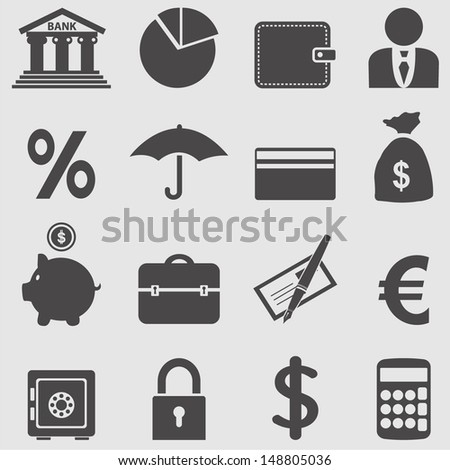 Banking icons set.Vector  - stock vector