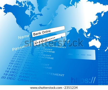 Banking On-line vector. - stock vector