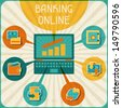 Banking online infographic. - stock