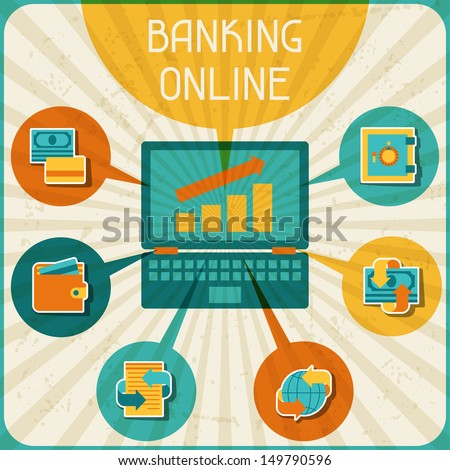 Banking online infographic. - stock vector