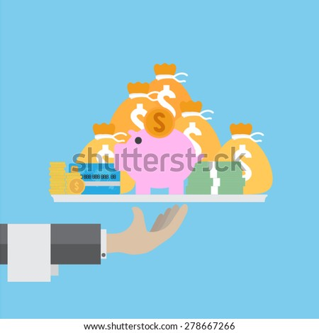 banking service - stock vector