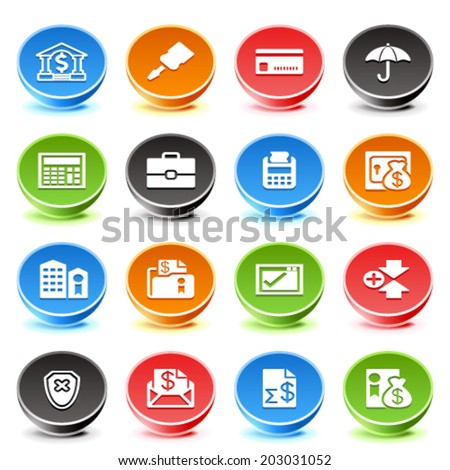 Banking web icons. - stock vector