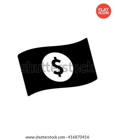 Banknote Icon Flat Style Isolated Vector Illustration. Dollar Banknote Icon. Banknote Vector. Money Icon. US Banknote Object. Banknote EPS. Banknote JPG. US Banknote Image. Dollar Banknote Web. - stock vector
