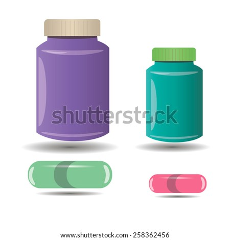 banks and capsules - stock vector