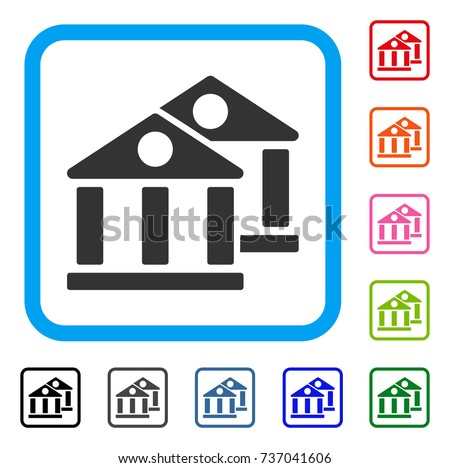 vector bank icon icon banking concept stock vector
