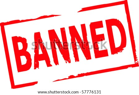 banned grunge stamp vector illustration