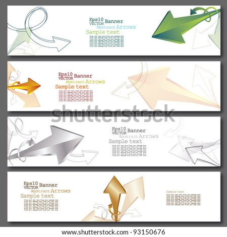 Banner - Abstract Arrows (Set of Banners) - stock vector