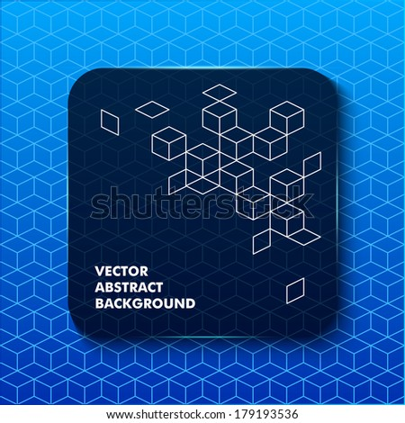 Banner abstract web element. Speech box with trendy glass effect - stock vector