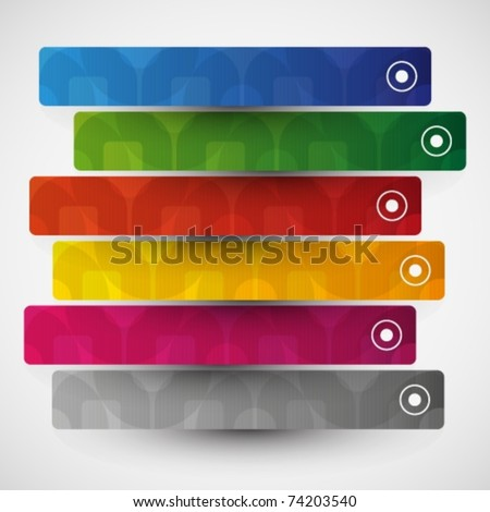 banner and bookmark - stock vector