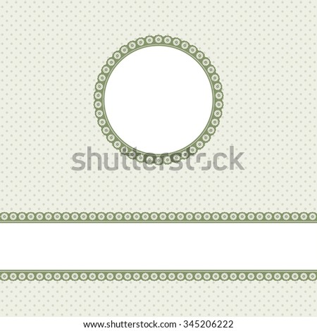 banner and empty patch on green colored pointed background - stock vector