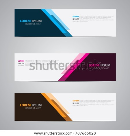 banner backgroundmodern template design stock vector 787665028
