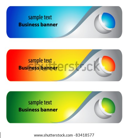 banner collection - stock vector