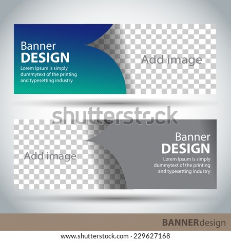 Banner Design Template Stock Vector HD (Royalty Free) 229627168 ...