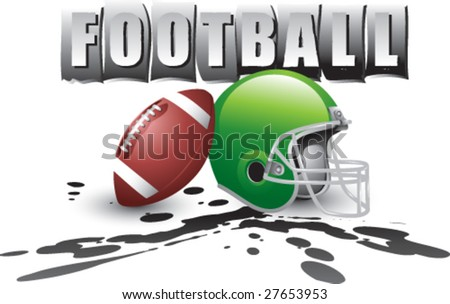 banner display for football - stock vector