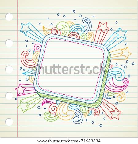 banner doodle - stock vector