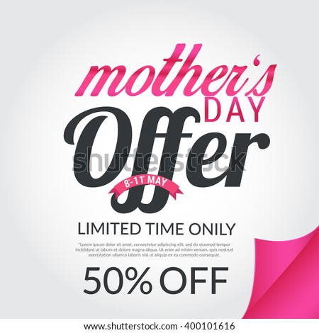 Banner,flyer or poster of Mother's Day,sale shopping bag background.