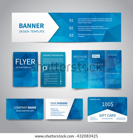 Banner flyers brochure business cards gift stock photo photo banner flyers brochure business cards gift card design templates set with geometric colourmoves Image collections