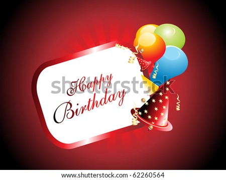 banner for happy birthday celebration - stock vector