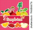 banner for juices and fresh fruit - stock photo