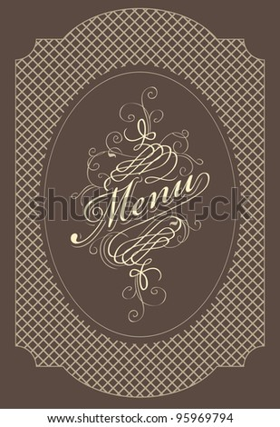 banner for menu with words - stock vector