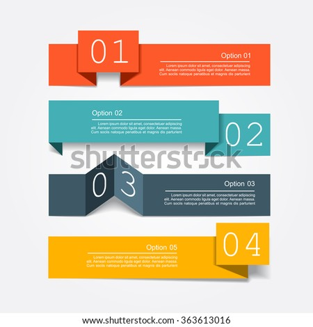 Banner infographic design template with place for your data. Vector illustration - stock vector