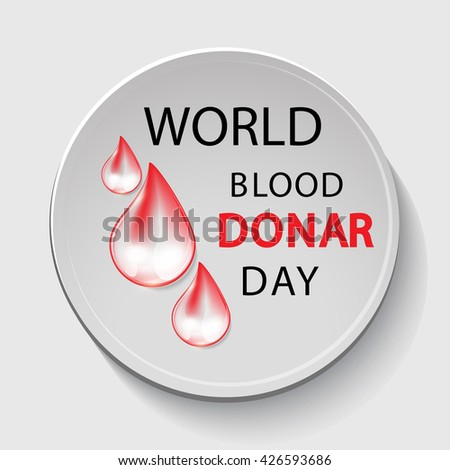 Banner on the theme of World Blood Donor Day. Vector illustration. The poster, simpleton.  - stock vector