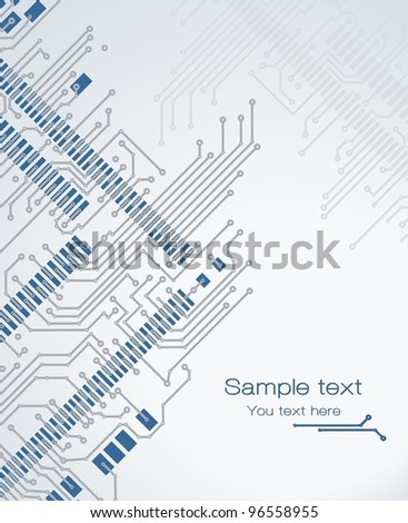 Banner printed circuit board - stock vector