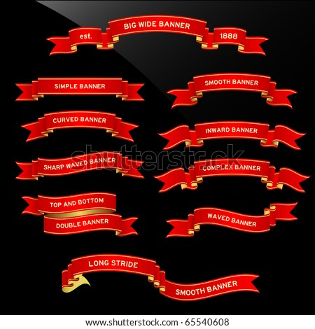 Banner Ribbon Scroll - stock vector