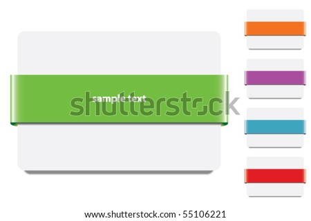 Banner Ribbon -With various colors- - stock vector