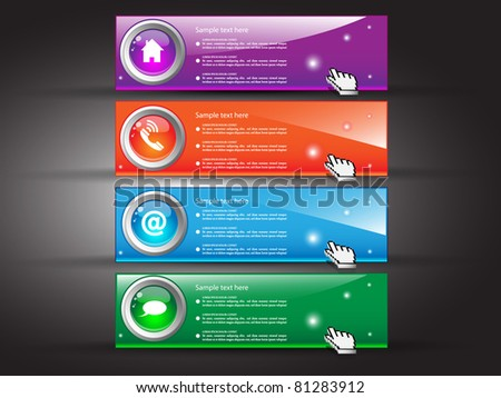 Banner set for site. Vector illustration - stock vector