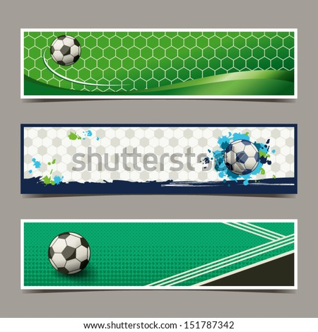 banner soccer design - stock vector