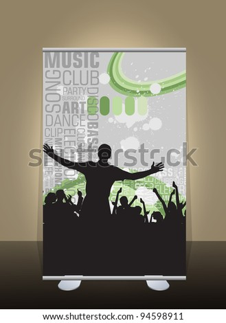 Banner stand display - stock vector