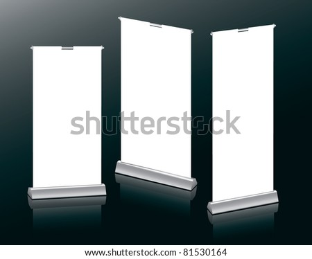 Banner Stands in your design - stock vector