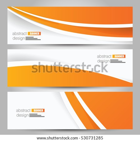 Banner Template Abstract Background Design Business Stock ...