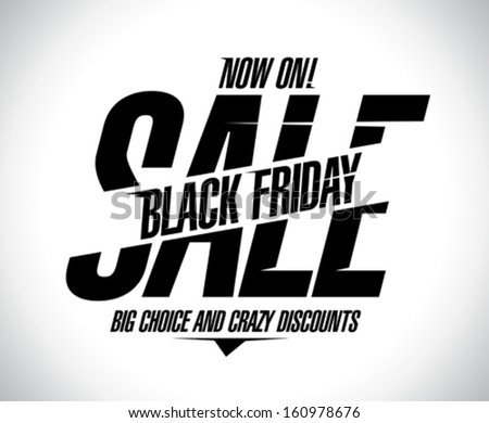 Banner template for black Friday sale. - stock vector