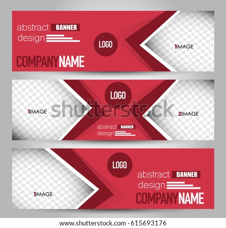 Banner Template Abstract Background Design Business Stock Vector ...