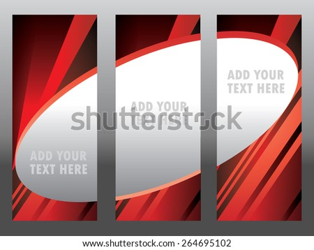 banner, up, pull, rollup, roll, stand - stock vector